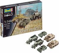 REVELL 3350 WWII US Army Vehicles Tanks Trucks 1/144 Plastic Model Kit FREE SHIP