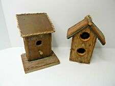 Wooden Bird House, Natural Camo Blends W/Back Ground Attractive To Birds