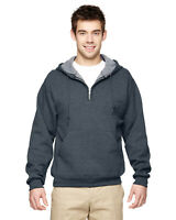 Jerzees Adult 8 oz. NuBlend Fleece Quarter-Zip Pullover Hood 994MR S-3XL