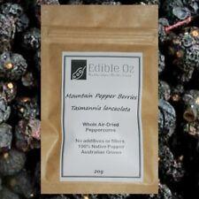 MOUNTAIN PEPPER BERRIES (Tasmannia lanceolata) WHOLE DRIED 'Bush Tucker Food'