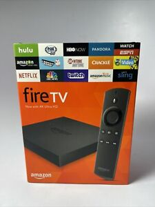 Amazon Fire TV Now With Ultra HD 4K Media Streamer Player Black New Sealed