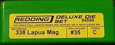 84594 REDDING 3-DIE FULL LENGTH / NECK 338 LAPUA MAG DELUXE DIE SET - BRAND NEW