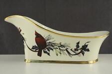 Lenox China CHRISTMAS Winter Greetings Single Wine Bottle Caddy Cardinal Birds B
