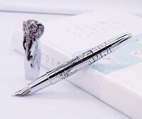 Fuliwen Lovely Elephant Head / Eagle Head Fountain Pen, Full Metal Delicate Pen