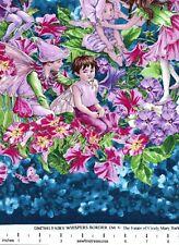 Flower Fairies WHISPER Fairies Double BORDER STRIPE Fabric By the 1/2 YD