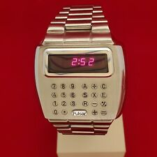 PULSAR LED Calculator Digital Watch with boxes and papers in full working order
