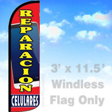 Flag Only 3' WINDLESS Swooper Feather Banner Sign - REPARACION CELULARES rq