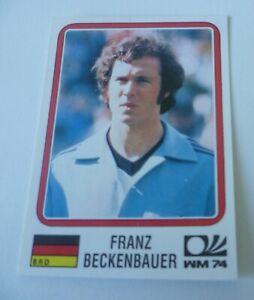 Panini World Cup 1974 * Franz Beckenbauer sticker *  World Cup Story #63 Mint