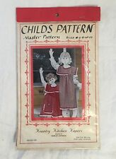 KOUNTRY KITCHEN KAPERS Childs Apron Pinafore Pattern Childrens Size 6 8 10 12