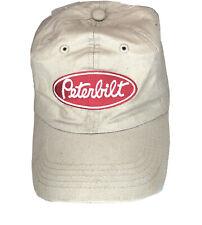 Peterbilt Khaki Baseball Cap Hook & Loop Adjustable Hat NWT