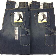NEW! Vintage Levis SilverTab Mens Loose Fit Carpenter Jeans x2 LOT W 42 x L 36