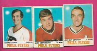 1970-71 OPC  # 80 PHILADELPHIA FLYERS  CARD LOT  (INV# C3469)