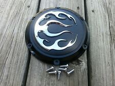 Black Derby w/Chrome Flames for 2004 later XL Harley CLEARENCE was $70 + S/H