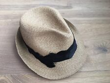 $325 Eugenia Kim Max Toyo Fedora Hat Camel Color Black Feather Sold Out New BNWT