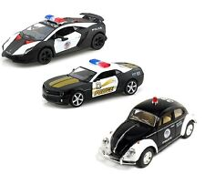 3 x Pcs VW Bettle Camaro Lamborghini Sesto Elemento POLICE CAR diecast model 5""