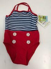 Flap Happy Girls UPF 50+ Sailor Swimsuit Brand NEW Girls 4 Vintage inspired $26