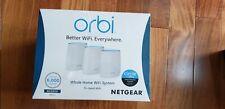 NEW! NETGEAR Orbi RBK23 Whole Home AC2200 Tri-band WiFi System 6,000 sf coverage