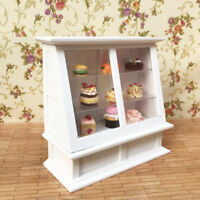 1/12 Dollhouse Miniature Food Bakery Display Shelf Cabinet Showcase shop counter