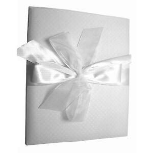 LIVRE D'OR MARIAGE CEREMONIE BLANC OU ECRU A MOTIFS 28cm x 23cm 50 pages NEUF
