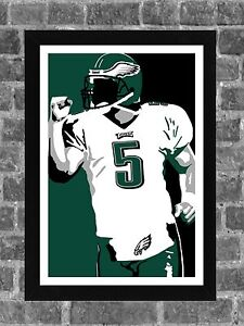 Philadelphia Eagles Donovan McNabb Portrait Sports Print Art 11x17