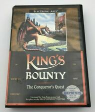 King's Bounty The Conqueror's Quest Sega Genesis 1991 Cartridge & Case Tested