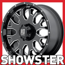4 x 20x9 KMC XD WHEELS MENACE XD808 BLACK 6x139.7 Ranger Hilux Colorado