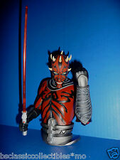 Star Wars The Clone Wars Darth Maul Bust Bank By Diamond Select Toys New!