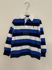 Baby Boy Polo Ralph Lauren Striped Cotton Jersey Rugby Shirt Age 18 - 24 Months
