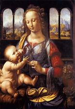 Madonna col Bambino con un vaso di fiori 1475 Leonardo Da Vinci poster stampati