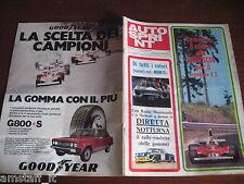 AUTOSPRINT 1976/3=PRESENTAZIONE MONDIALE F1 FOTO VETTURE PILOTI=