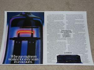 Luxman LV-105, LV-103 Tube Amplificateur Ad, 1986, 2 Pg