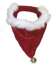Dog Christmas Santa Bandana Jingle Bell Pet Xmas Holiday Bandanas Kyjen 3 SIZES