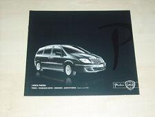 39957) Lancia Phedra Preise & Extras - technische Daten - Prospekt 06/2008