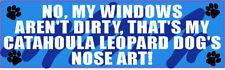 My Catahoula Leopard Dog Nose Art Sticker (Blue)