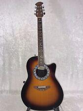 Ovation 1771-1 Balladeer Refurbished Acoustic/Electric Guitar – Sunburst