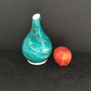 SpaRoom® SeaScape™ Ultrasonic Glass Essential Oil Diffuser in Blue & Gold Swirl