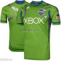 Adidas SEATTLE SOUNDERS Soccer Football MLS USA Shirt AUTHENTIC Jersey~Men sz XL