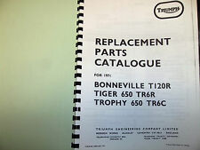 TRIUMPH  T120R TR6R TR6C PARTS BOOK MANUAL 1971 - TP41 99-0932 USA MODELS