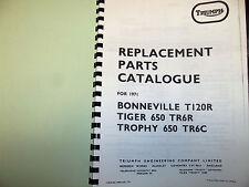 TRIUMPH  T120R TR6R TR6C PARTS BOOK MANUAL 1971 - TP41 99-0932 USA MODELS