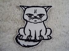 """GRUMPY CAT 4"""" Embroidery Iron-on Applique Patch (E8)"""