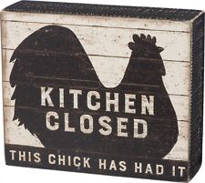 Rooster Kitchen Closed This Chicks Had It Country Farmhouse Wood Sign Primitives