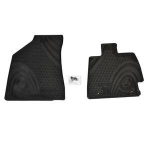 NEW GENUINE TOYOTA KLUGER ALL WEATHER RUBBER FRONT FLOOR MATS PZQ2048142