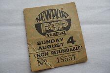 1968 NEWPORT POP FESTIVAL Original TICKET STUB *** Almost 1ST ROCK FESTIVAL ***