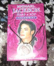 Michael Jackson official FINGERPRINT signed necklace 925 silver pendant LiMiTeD