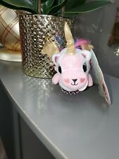"Limited Edition Unicorn Pegasus Plush Hair Brush Kid Friendly Pink 8.5"" NEW SOFT"