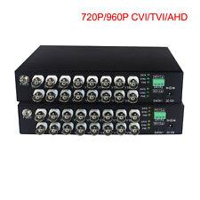 Video Fiber Optic Media Converters for 16 960P 720P CVI TVI AHD HD Cameras
