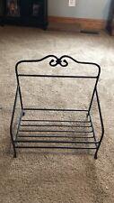 Rod iron newspaper basket stand
