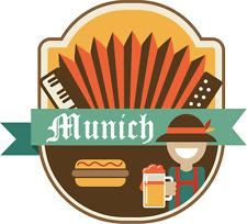 "Munich Germany World City Travel Car Bumper Sticker Decal 5"" x 5"""