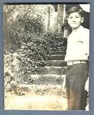 Portrait d'un jeune garçon  Vintage silver print Tirage argentique d&#039