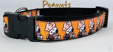 "Peanuts Snoopy dog collar handmade adjustable buckle 1""or 5/8"" wide or leash"